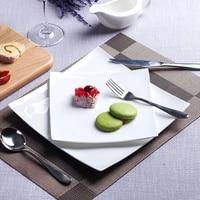 nordic steak western dinner plates pure white bone china square dinner dishes dessert tray ceramic flat kitchen dinnerware set