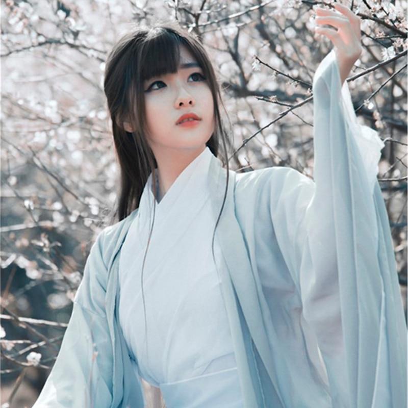 Chino tradicional disfraz de Baile Folclórico mujeres antigua Hanfu vestido estilo Oriental...