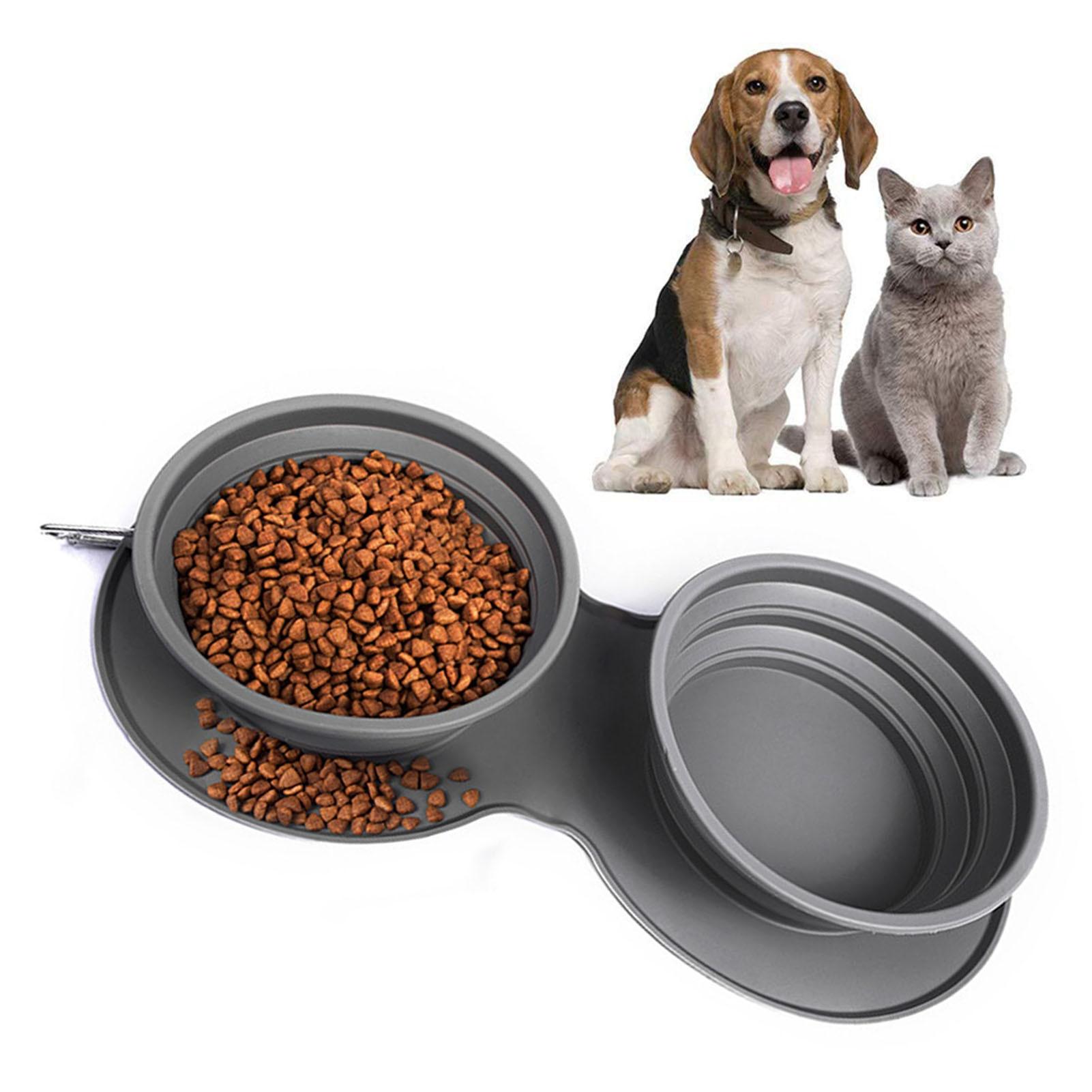Силиконовая складная миска для питомца анти с защитой от застревания еды медленной еды миска для собаки, домашних животных Кормление кота П...