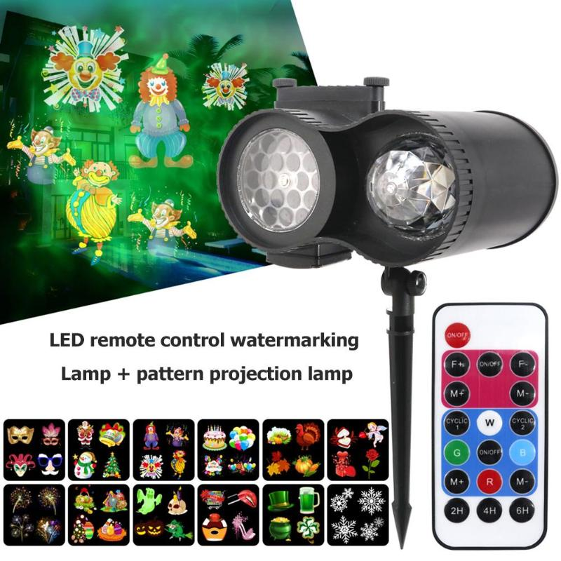 LED Remote Watermarking Effect Light IP65 3D Spike Christmas Halloween Lamp