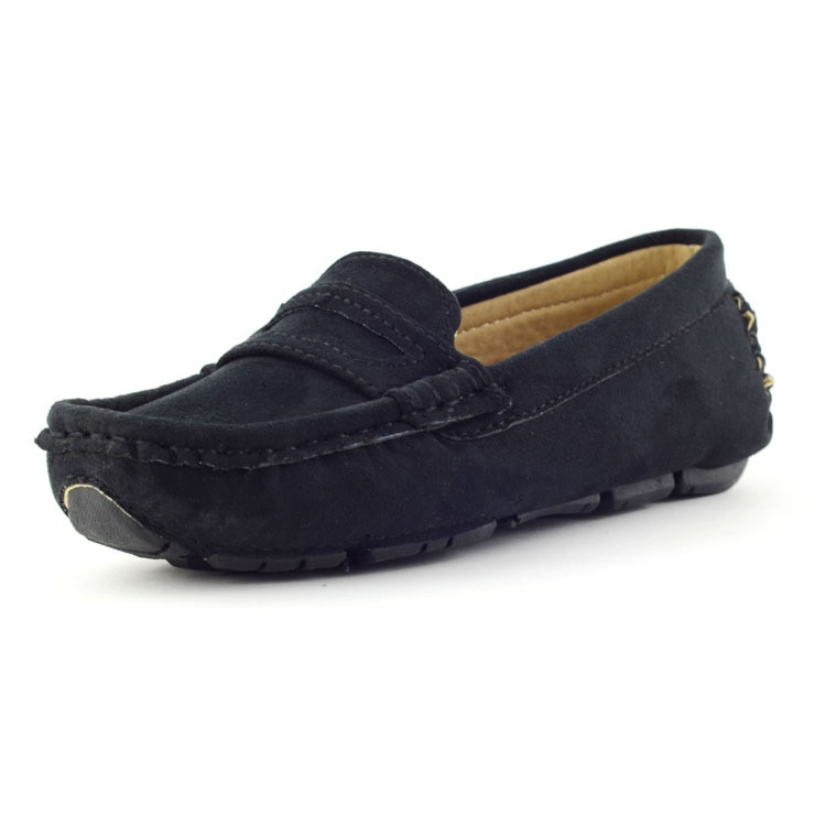 New Kids Shoes For Boys Loafers Flat Baby Girls Sneakers Leather Moccasins Slip-on Soft Breathable C