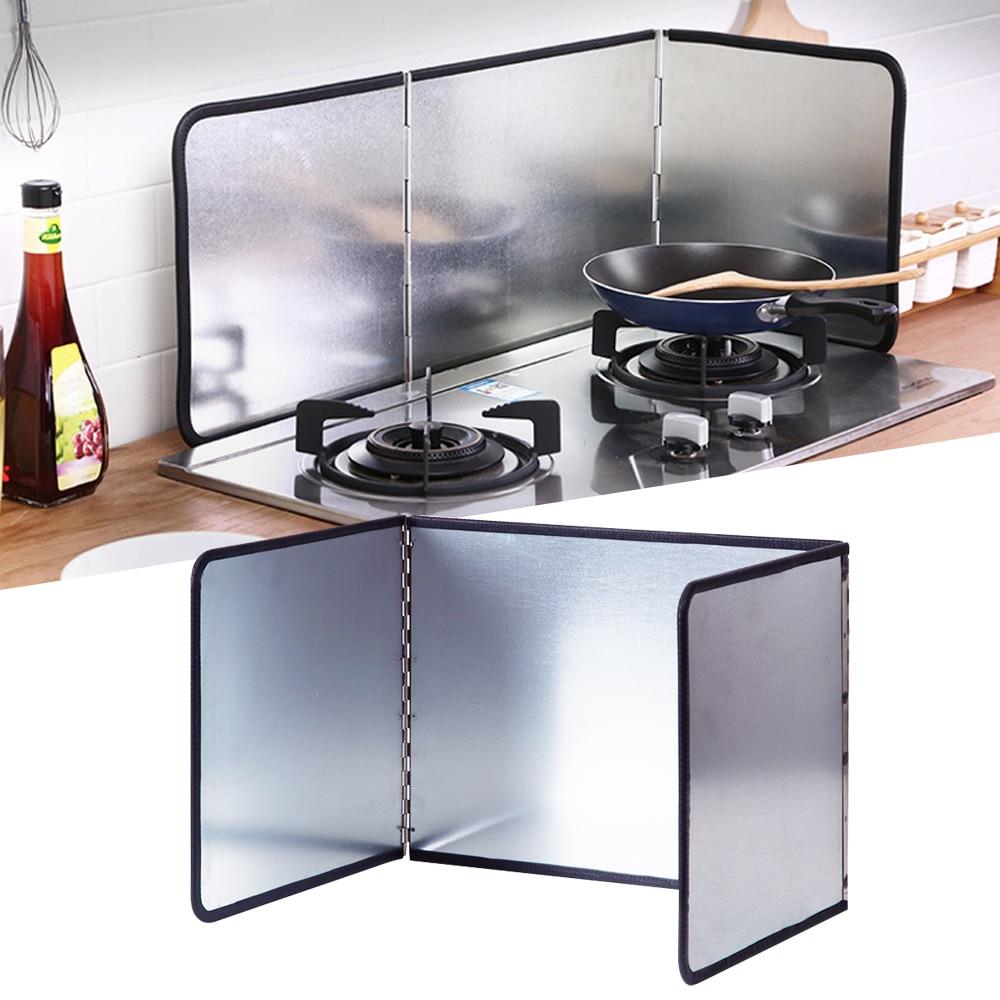 Kitchen Oil Baffle Plate Fry Splash Oil Fume Insulation Plate Galvanized Oil-Proof Baffle Kitchen Cooking Stove Oil Splash