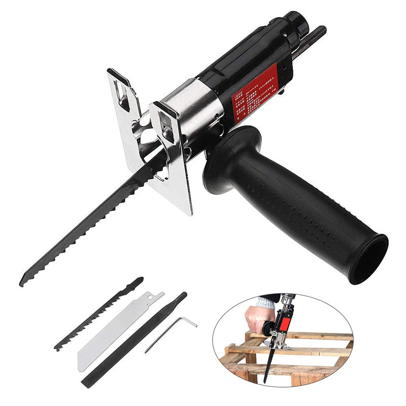 Электрическая дрель, Модифицированная Сабельная пила, электрошпатель, многофункциональный домашний инструмент, конвертер для резки древе...