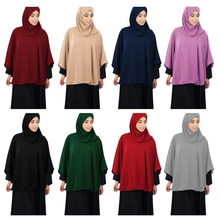 Modesty One Piece Muslim Women Prayer Khimar Hijab Overthead Tops Shawl Niqab Burqa Arab Hooded Cape Islam Clothing Middle East