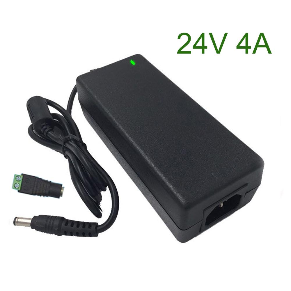 24V4A AC 100-240V DC 24V 4A Switching Power Supply Unit 24 Volt Universal Power Adapter 24v 220v AC/DC Converter Charger 5.5-2.5