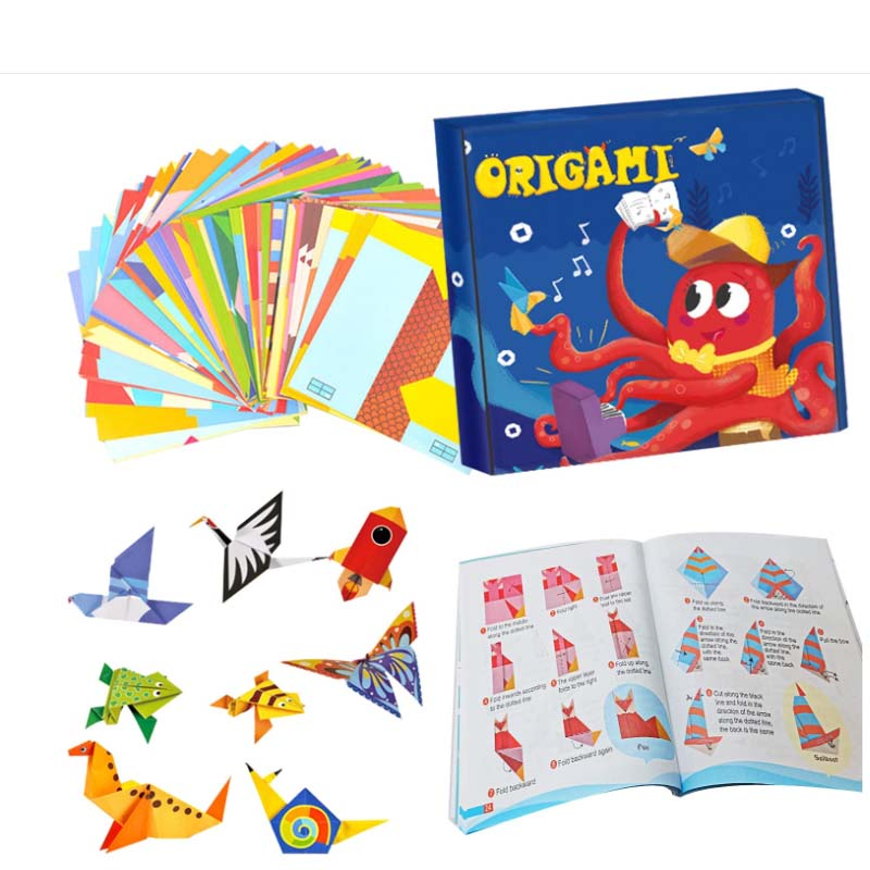 108 Double Sided Vivid Origami Papers 54 Origami Projects 55 Pages Colorful Kids Instructional Book for Kids Adults Beginners T