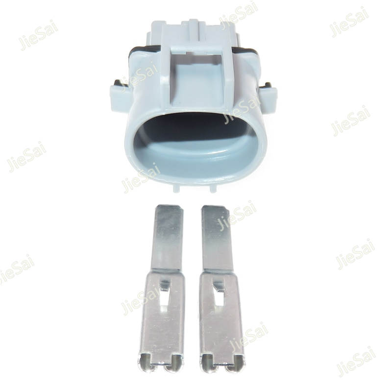 2 Pin Unsealed Male Connector Automotive Electronic Fan Wiring Cable Socket With Terminal 4.8 Series