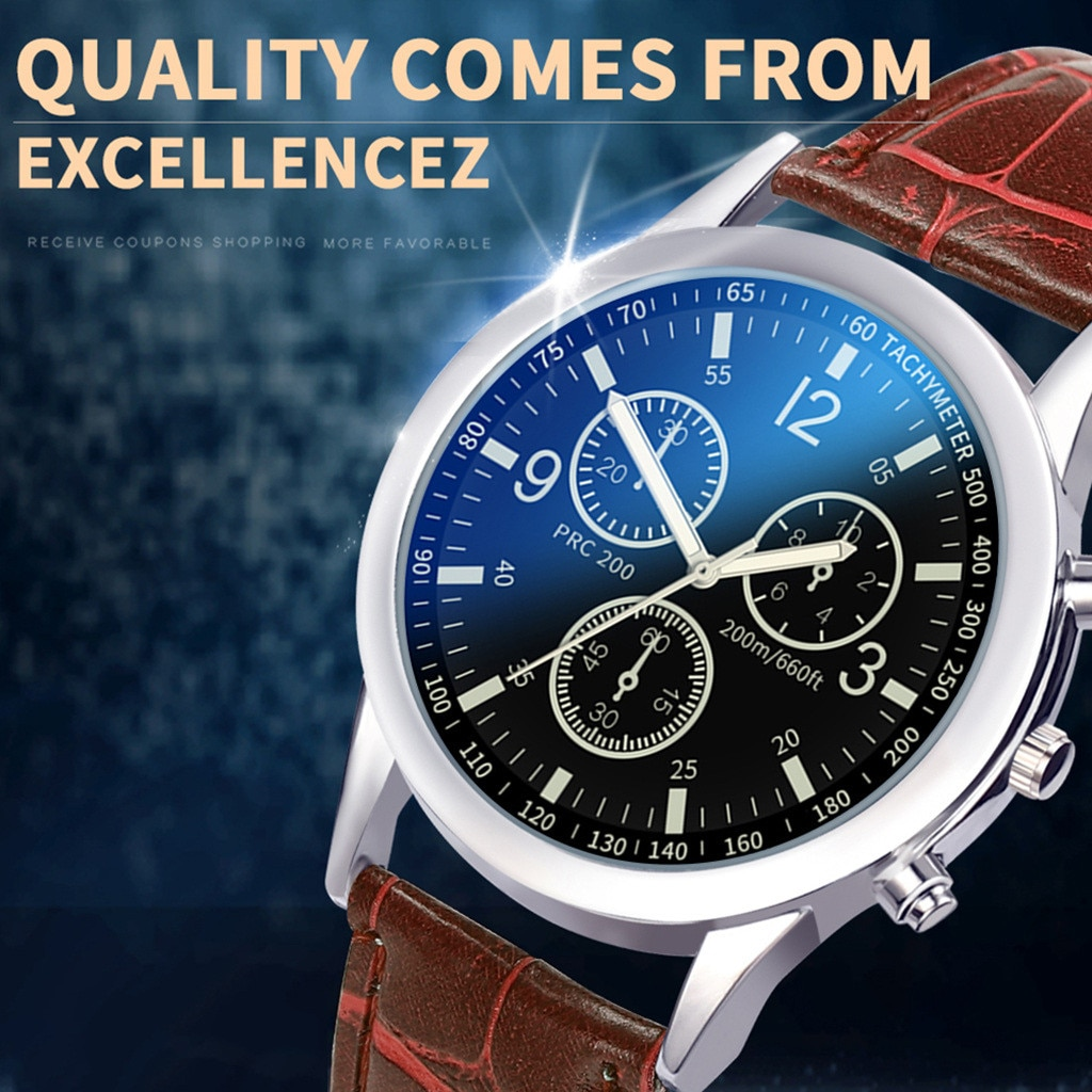 Casual Fashionable Men Style And Leisurely Strap Watch Three Eye Six Stitches Leisure Fashion Activi