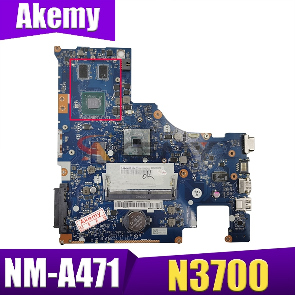 جديد BMWC1/BMWC2 NM-A471 اللوحة لينوفو 300-15IBR اللوحة الأم للكمبيوتر المحمول مع N3700 وحدة المعالجة المركزية 920 متر 1GM بطاقة الفيديو اختبار 100% العمل