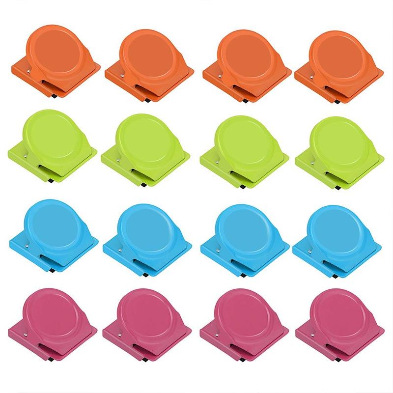 Sujetadores de papel Clips magnéticos Clips de Metal magnéticos 16 paquetes de colores de alta resistencia refrigerador pizarra Clip de pared para