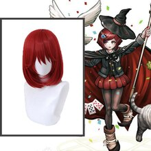 Anime Comic Danganronpa V3 Killing Harmony Cosplay Wigs Yumeno Himiko Cosplay Wig Synthetic Wig Hairs Shorts Red Hairs bobo