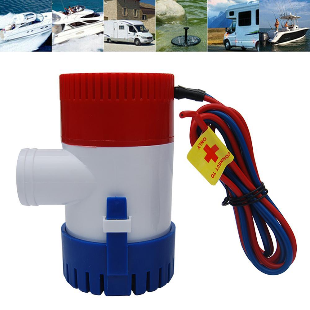 Bomba de agua sumergible Marina eléctrica 1100GPH 12V para Boat RV Campers bomba de agua duradera sin sentina Switch Boat Accessories