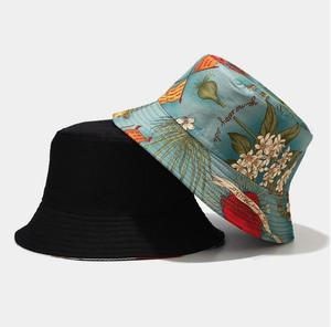 Marine plant Two Side Reversible Bucket Hat Unisex Lovers bob Cap beach Men woman summer Caps Panama sea plant Bucket Hat