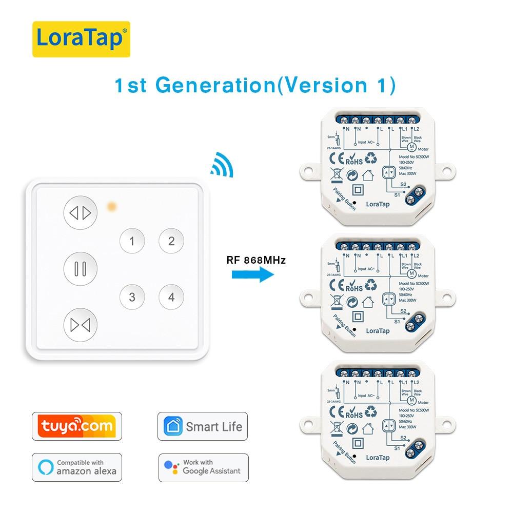 Смарт-домашние радиочастотные жалюзи lorlao, Wi-Fi, Рольставни, занавеска, переключатель, релейный модуль, 4-канальное Дистанционное Голосовое уп...
