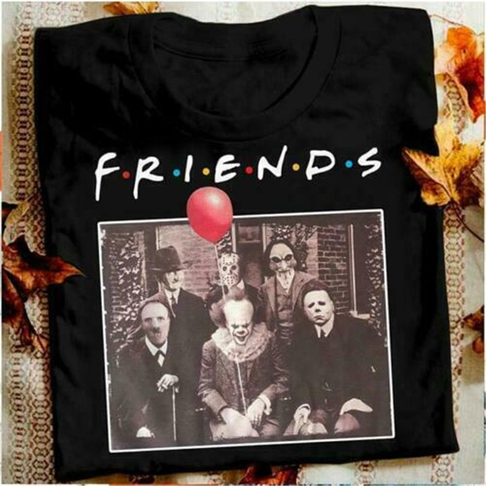 Horror Friends Pennywise Michael Myers Jason Voorhees Halloween Men T-Shirt Cotton matching T-shirt printio jason voorhees