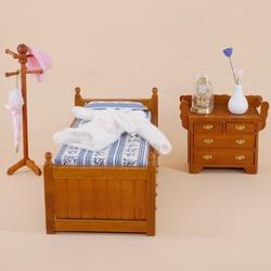 1 pc 112 boneca casa mini móveis de madeira cama modelo de brinquedo com gavetas deslizantes