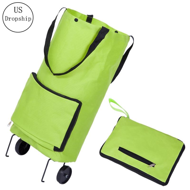 New Folding Shopping Bag Shopping Buy Food Trolley Bag on Wheels Bag Buy Vegetables Shopping Organizer Portable Bag