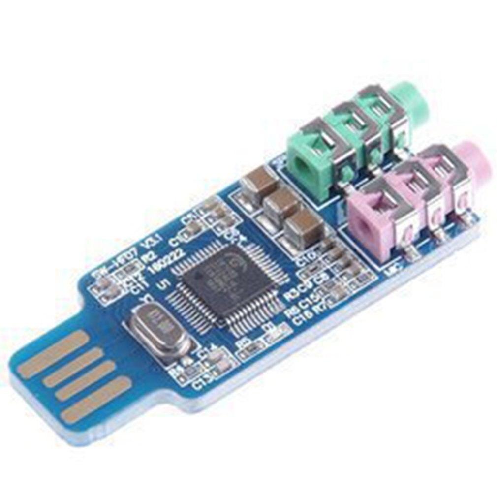 Звуковая карта USB привод бесплатно USB ноутбук компьютер внешняя Голосовая карта модуль привод бесплатно драйвер ноутбук компьютер модуль