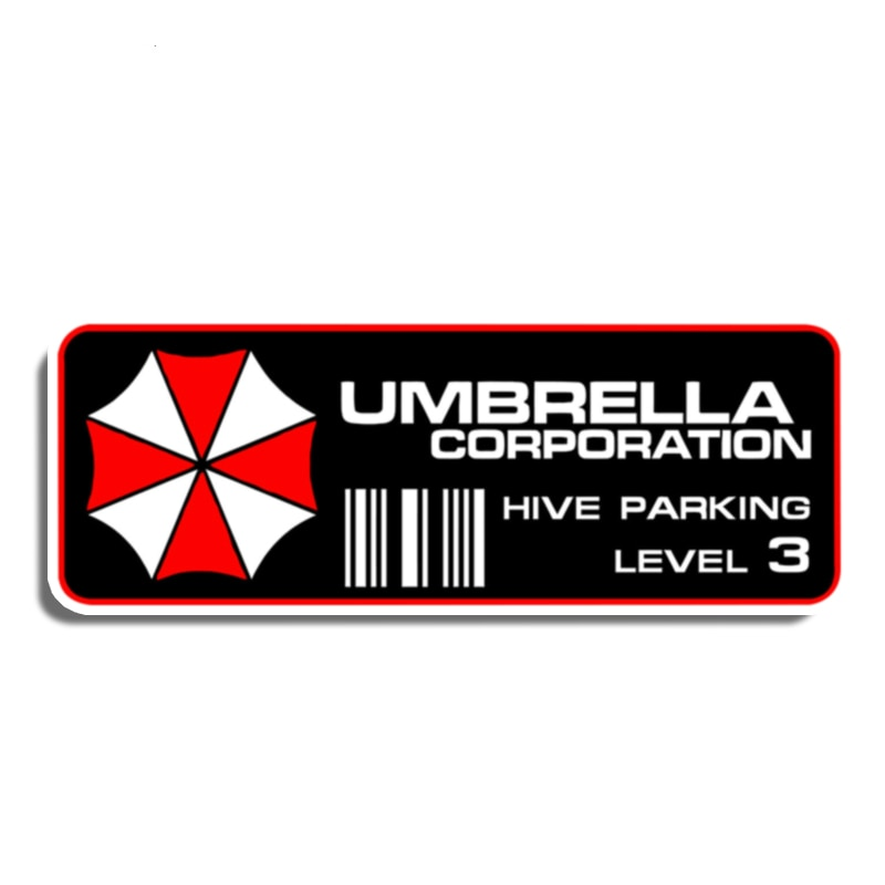 AliExpress - Dawasaru Funny Decal for Umbrella Corporation Hive Parking Level 3 Resident Car Sticker Motorcycle Auto Decoration PVC,13cm*4cm
