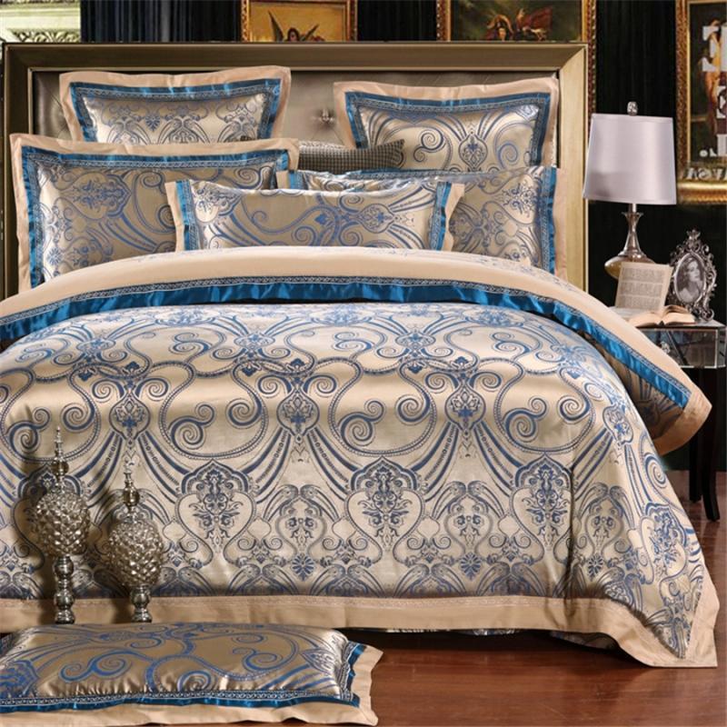 32 ivarous 2017 طقم سرير موضة الملكة الملك الحجم الجاكار حاف الغطاء ملاءات المخدة 4/6 قطعة