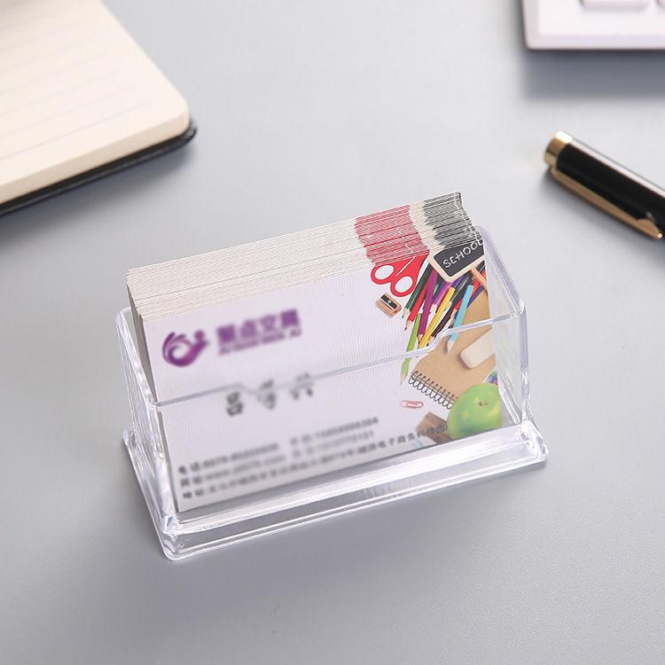 Акриловая прозрачная визитница для мужчин и женщин, креативный офисный держатель для визиток, многослойная коробка для хранения визиток