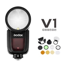 Godox V1 Flash à tête ronde pour SONY Canon Nikon Fujifilm Olympus appareil photo lampe de poche ronde TTL HSS batterie Li-ion