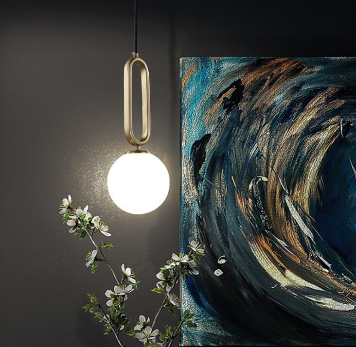 الشمال قلادة تركيب المصابيح كرة زجاجية الثريا مصباح معلق ضوء مطبخ تركيب المصابيح الطعام Hanglamp غرفة المعيشة الإنارة
