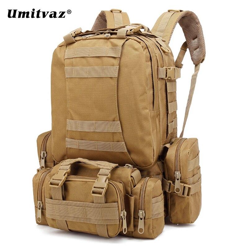 Oxford 55L mochila táctica camuflaje ejército militar bolsa de tiro con arco caza pesca mochilas Camping al aire libre Umitvaz