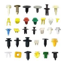 50pcs Automotive Plastic Rivet Car Fender Bumper Interior Trim Push Pin Clips Kit Car Accessories