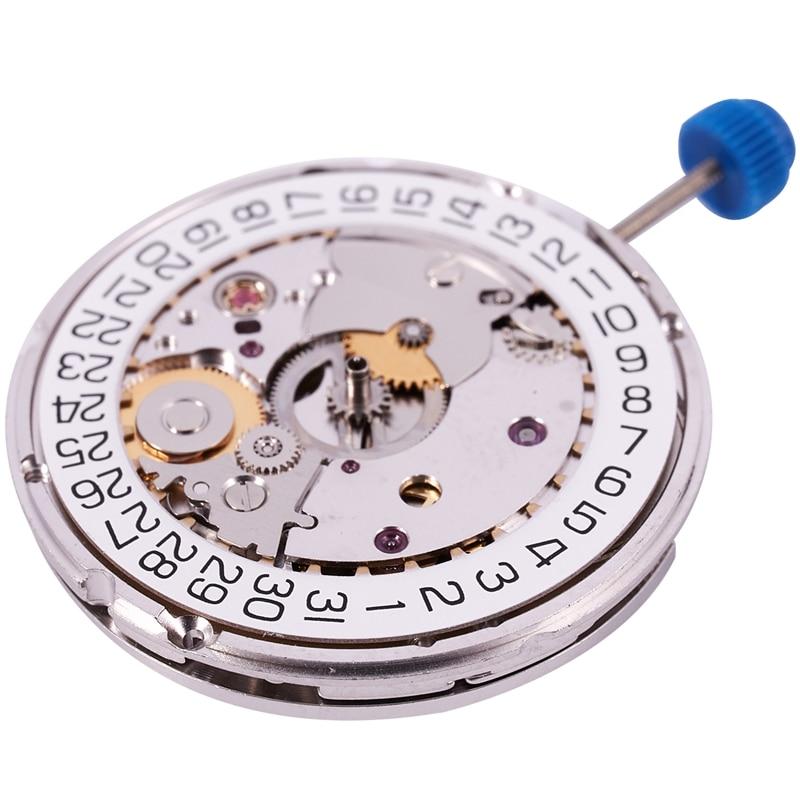 جودة ل ETA 2824-2 SELLITA SW200 الأبيض 3H ساعة ميكانيكية حركة الساعة
