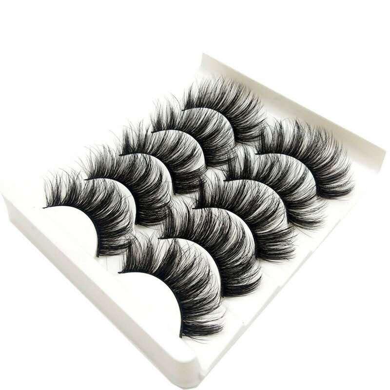 Высококачественные 5 пар 3d ресницы из норки оптом пушистые ресницы норки естественно выглядящие Искусственные ресницы наращивание ресниц