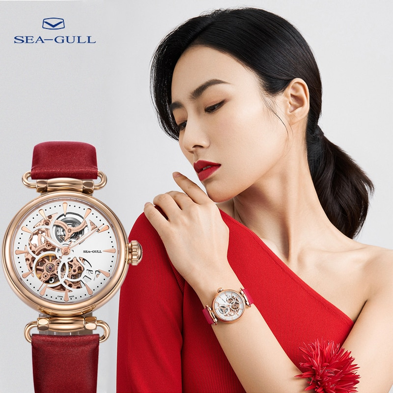 Seagull Lady Mechanical Watch Fashion Hollow Automatic Mechanical Watch 50m Waterproof Watch Goddess of Time 634L