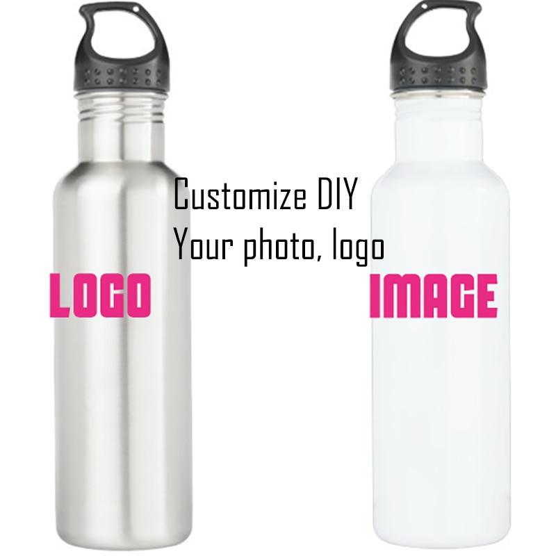metal bottle sports water bottle kitchen drinkware 600 ML Customize logo text image stainless diy personalize logo steel bottle