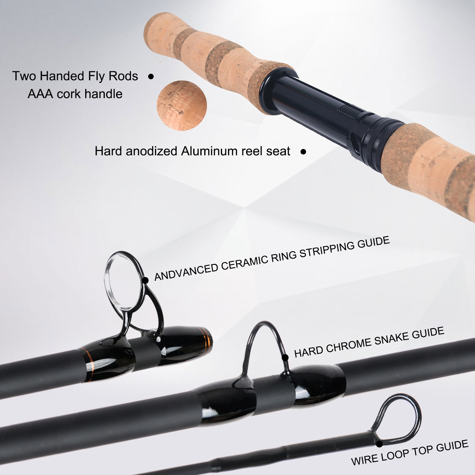 Maximumcatch Switch Spey Fly Fishing Rod IM10 30T+40T Carbon Fiber Fast Action Fly Rod With Spare Butt 11-15FT 3-10WT enlarge