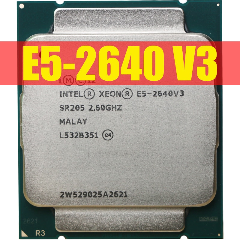 Процессор Intel Xeon E5 2640 V3 SR205 2,6 Ghz 8 Core 90W Socket LGA 2011-3 CPU E5 2640V3 CPU