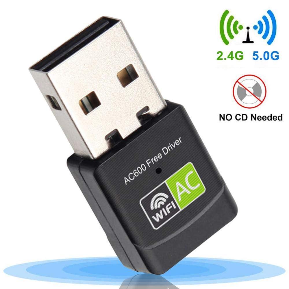 USB WiFi Adapter USB Ethernet WiFi Dongle 600Mbps 5Ghz Lan USB Wi-Fi Adapter PC Antena Wi Fi Receiver AC Wireless Network Card