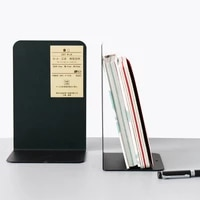 brand new and high quality 1 pair metal bookends organizer desktop office home book support shelf storage holder book ends stand
