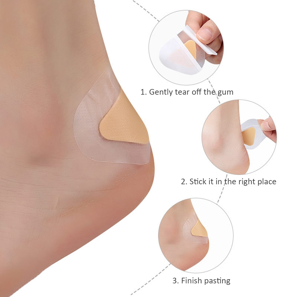 20pcs Wear-Resistant High Heels Back Stickers Shoe Insoles Blisters Waterproof For  Foot Care Anti-P