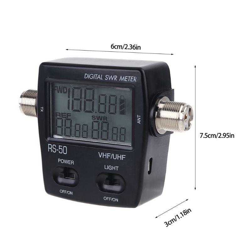 NISSEI RS-50 Digital SWR Watt Meter 125-525MHz UHF / VHF M Type Connector Micro USB-DC 5V Output Screen Radio Power Counter enlarge