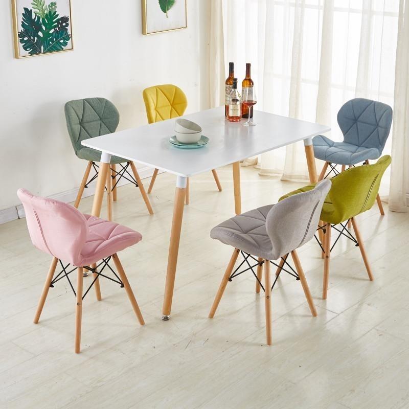 Обеденные стулья Современные Простые искусственная кожа для кухни деревянная спинка бабочка стулья для гостиной обеденные стулья для укра... обеденные группы из стекла для кухни
