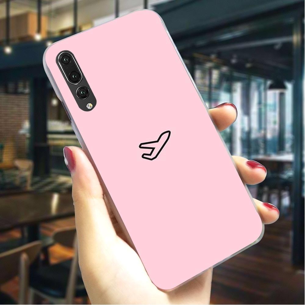 cute candy plane Hard Case for Huawei Y7 Prime 2018 Phone Cover for Nova 4 5i 3 3i 6A Honor 7A 8 9 10 Lite V20Cases Skin