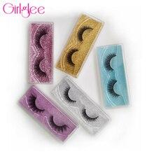 Natural 3D Mink Lashes 8-14mm Makeup Eyelashes For Daily Wear False Eyelashes Reusable Fluffy Fake L