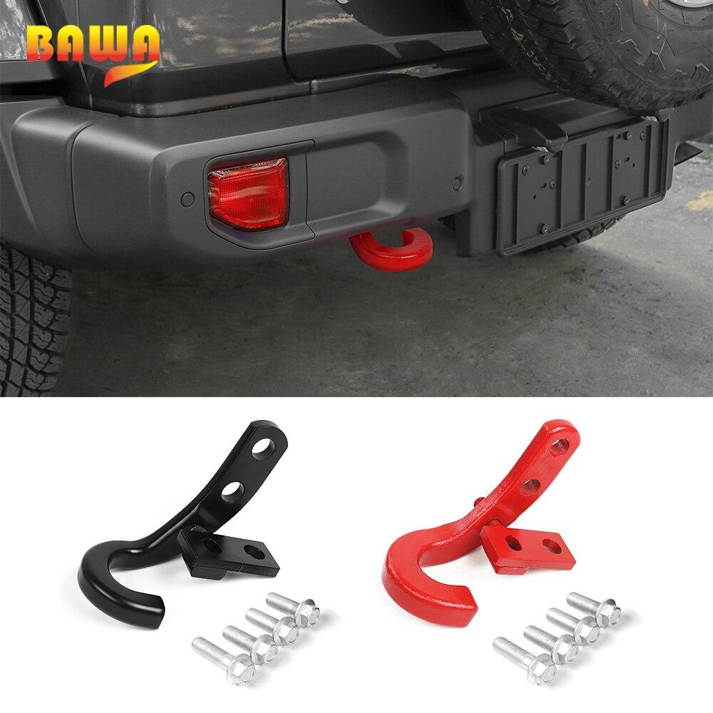 Gancho de remolque automático BAWA para Jeep Wrangler JL, accesorios de gancho de remolque de vehículo para Jeep Wrangler JL 2018 + piezas exteriores de coche