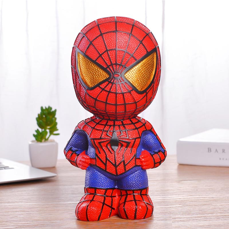 Big Cute Piggy Bank Alcanscia Creativas Saving Safe Spiderman Batman Iron Man Captain America Cash Money Box Kid Coin Cartoon