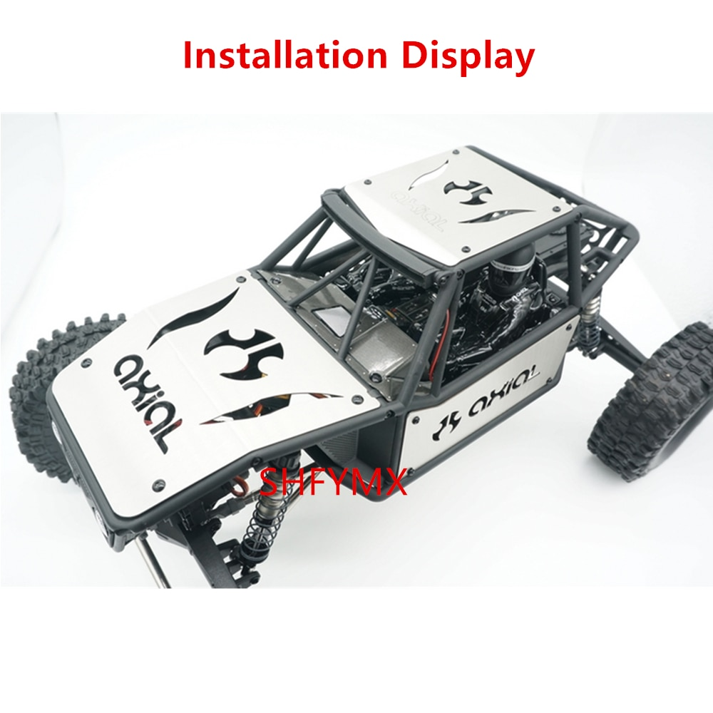 Crawler Rc Car Body Stainless Steel Guard Plate Set For 1/10 Rc Toy Axial Capra 1.9 UTB AXI03004 Upgrade Parts & Accessories enlarge