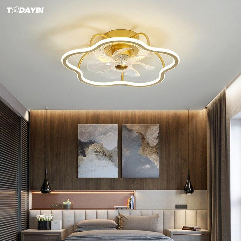 سقف ليد حديث مروحة بمصباح غرفة الطعام غرفة نوم مصباح لغرفة المعيشة مروحة مستديرة ضوء Ventilador دي تيكو إضاءة داخلية
