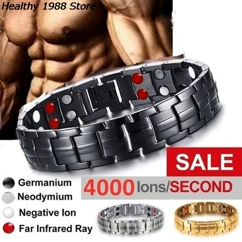 Men's Bracelets Energy Magnetic Tourmaline Bracelet Health Care Jewelry For Women Bracelets Bangle S