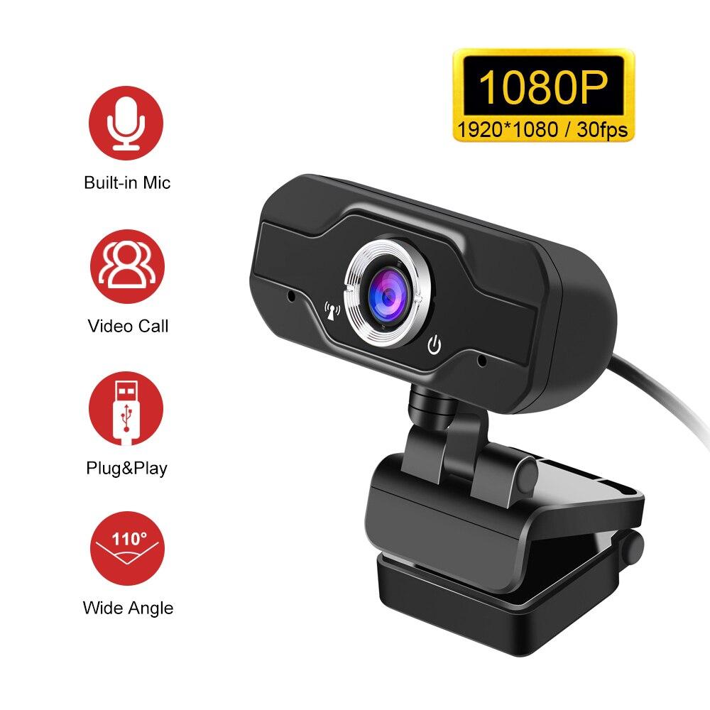 Фото - Веб-камера Full HD 1080P с автофокусом, веб-камера, веб-камера с USB, Компьютерная камера с микрофоном для видеозвонков веб камера