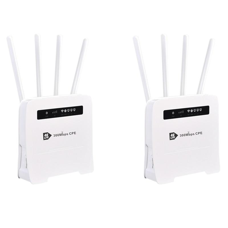 WiFi راوتر CPE 4G راوتر لاسلكي 2.4G 300M مع 4 هوائي تصميم دعم 32 المستخدمين ل مكتب/الأعمال/المنزل