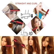 LCD Display 2-in-1 ceramic coating Hair straightener comb Hair Curler Curling Iron beauty care Iron